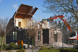 Houston home demolition